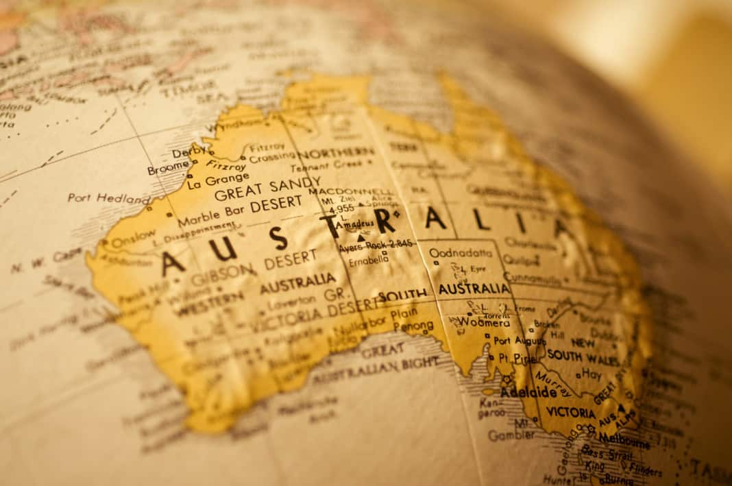Raggiungere l'Australia