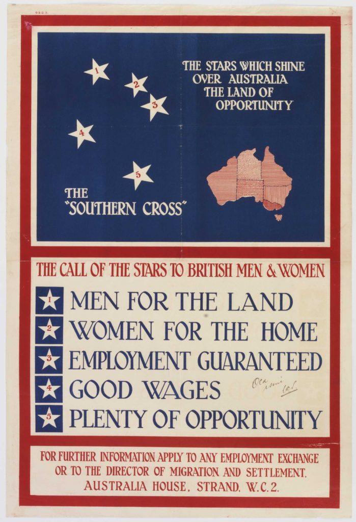 poster immigrazione australiana