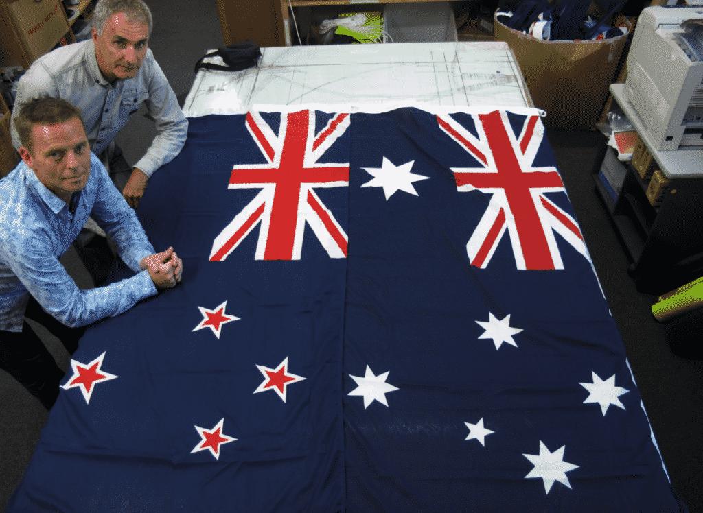 bandiera australiana e neozelandese a confronto