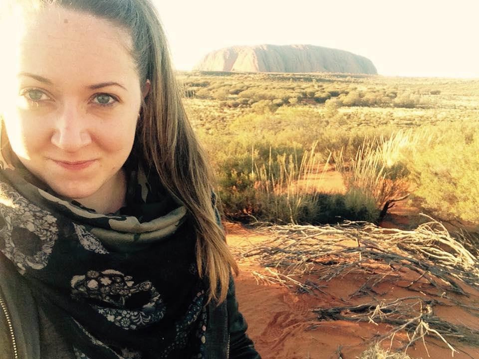 Sara, Ayers Rock - Vado a Vivere in Australia